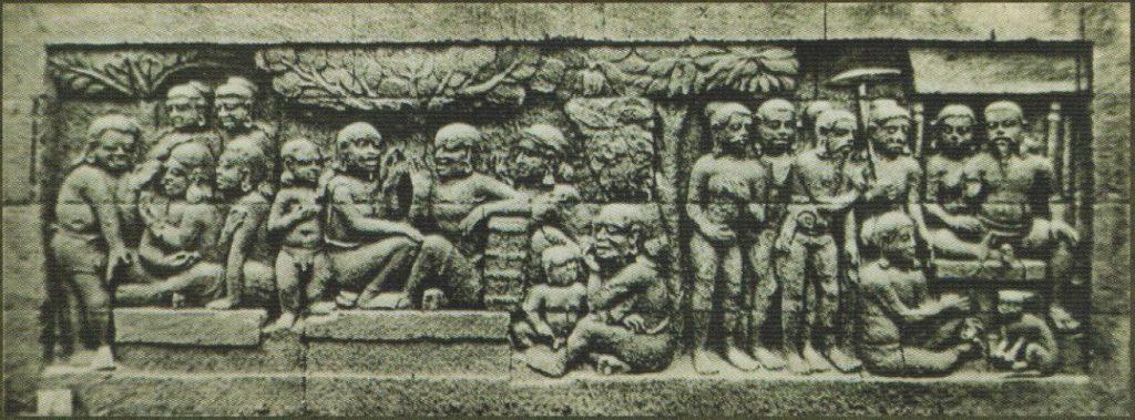busana jawa kuno pada relief borobudur